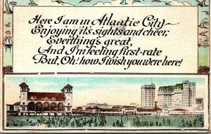New Jersey Atlantic City Beach Scene 1923