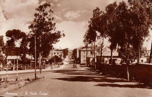 Ethiopia Asmara Il Viale Crispi Avenue classic auto real photo postcard