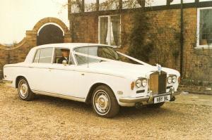 Postcard Rolls Royce Silver Shadow 1973, Wedding Car in Sussex 76M