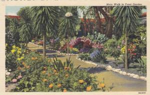Main Walk in Front Garden, Mission San Juan Capistrano, California, 30-40s