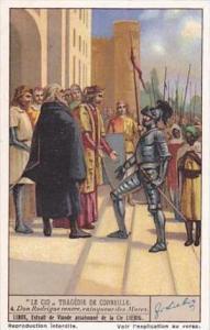 Liebig Vintage Trade Card S1337 El Cid 1936 No 4 Don Rodrigue rentre vainqueu...