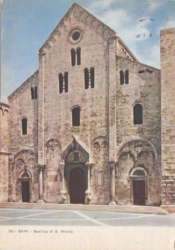 BARI, Basilica di S. Nicola, 1956 used Postcard