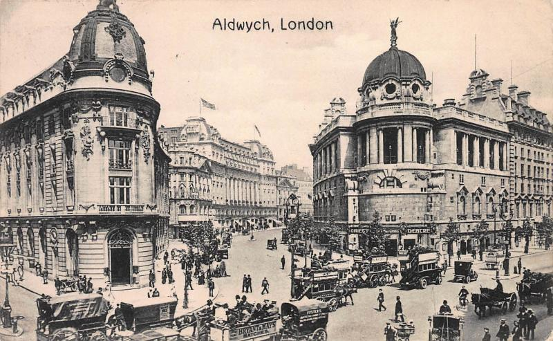 Aldwych, London, England, Early Postcard, Used in 1913, Sent to New Jersey