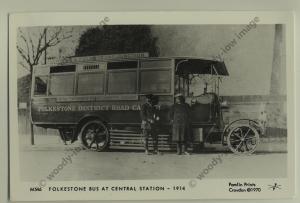 pp0913 - Kent Folkestone - Folkestone Bus at Central Station - Pamlin postcard