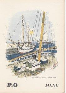 P.&O. Line Menu #3, Himialaya 1958 ; CAIQUES - Eastern Mediterranean