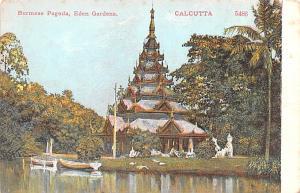 Calcutta India Burmese Pagoda, Eden Gardens Calcutta Burmese Pagoda, Eden Gar...