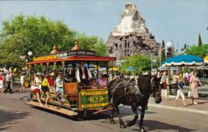 Horse Drawn Streetcar Disneyland Anaheim California