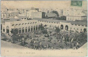 80301  -  TUNISIA  - VINTAGE POSTCARD -  TUNIS   1906