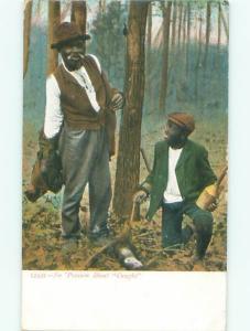 Pre-Linen Black Americana MEN HUNTING AC0317