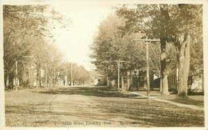 C-1910 Main East Redman New York Monroe County RPPC Photo Postcard 20-3023