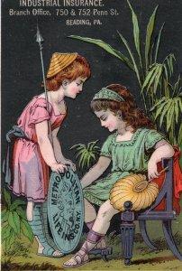 17004 Tradecard: Industrial Insurance, Metropolitan Life, Reading, Pennsylvania