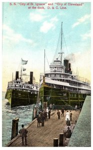 """Ohio  Steamers City of St.Ignace and City of Cleveland""""..."""
