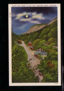 Western North Carolina Night view Bat Cave color postcard