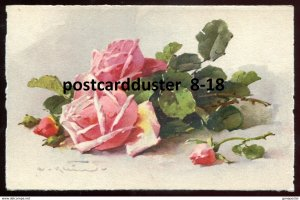dc1678 - Artist- CATHARINA KLEIN 1920s Pink Roses
