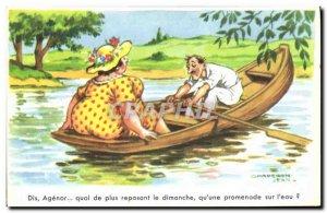 Old Postcard Fantasy Humor Barque John Hood