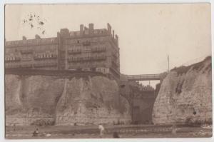 c1910 BROADSTAIRS Kent United Kingdom REAL PHOTO RPPC Postcard GREND HOTEL Sea
