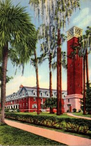 Florida Deland Chaudoin Hall and Hulley Tower Stetson University 1949 Curteich