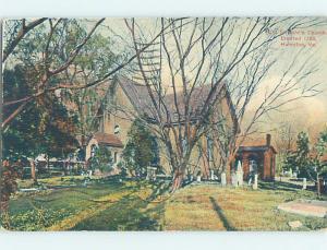 Divided-Back GRAVEYARD AT ST. JOHN'S CHURCH Hampton Virginia VA L6121