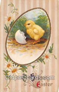 Happy Easter Postal Used Unknown, Missing Stamp crease bottom edge
