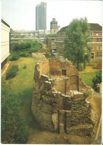 Museum of London, City Wall and Defences, unused Postcard