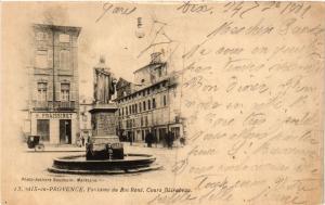 CPA AIX-en-PROVENCE Fontaine du Roy Rene-Cours Mirabeau (339938)