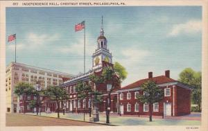 Independence Hall Chesnut Street Philadelphia Pennsylvania