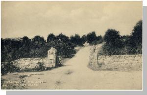 Vintage Minot, Mass/MA Postcard, Gateway, The Glades