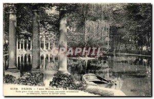 Paris Old Postcard Park heap The Naumachie