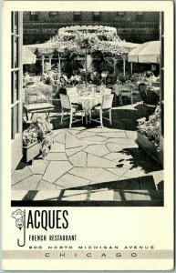 Chicago, Illinois Postcard JACQUES FRENCH RESTAURANT 900 N. Michigan Ave. c1950s
