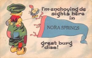 Enjoying The Sights in Nora Springs Iowa~Great Burg Dis! Girl Watching~Pennant