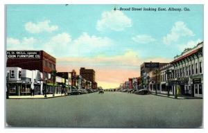 1947 Broad Street looking East, Albany, GA Postcard