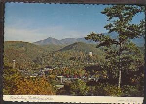 Bird's Eye View Gatlinburg TN Postcard BIN