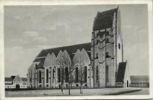 denmark, COPENHAGEN KOBENHAVN, Grundtvigskirken (1935) Architect Jensen-Klint