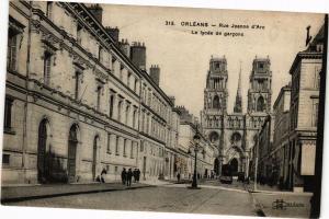 CPA ORLÉANS-Rue Jeanne d'Arc-Le lycée de garcons (266074)