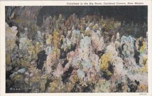 New Mexico Carlsbad Cavern Fairyland In The Big Room Curteich
