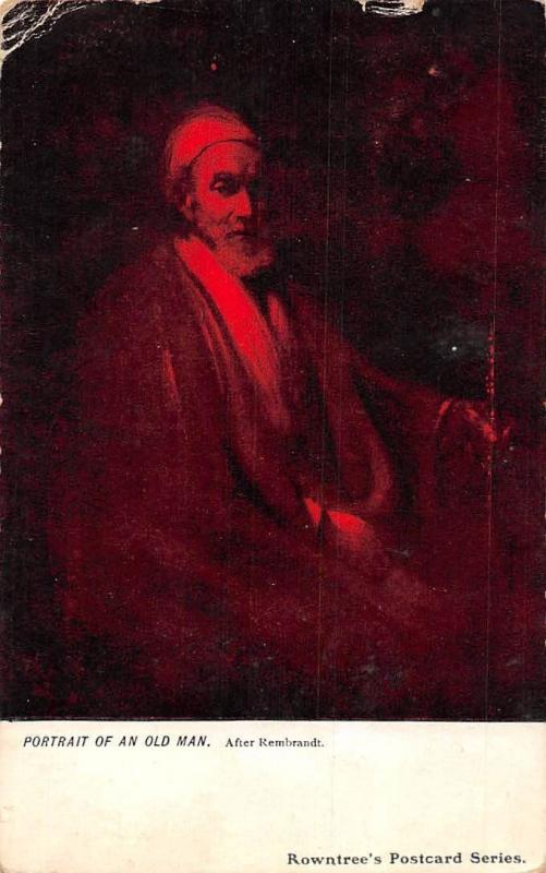 Portrait of an Old Man, After Rembrandt, Rowntree's Postcard Series  1905