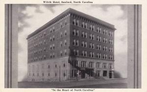 Exterior,  Wilrik Hotel,  Sanford,  North Carolina,  40-60s