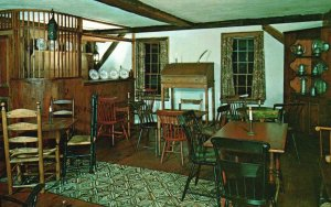 York, Maine, ME, Tap Room, Jefferds Tavern Museum, Chrome Vintage Postcard g8255