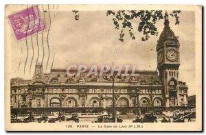 Old Postcard Paris Gare du Lyon P L M