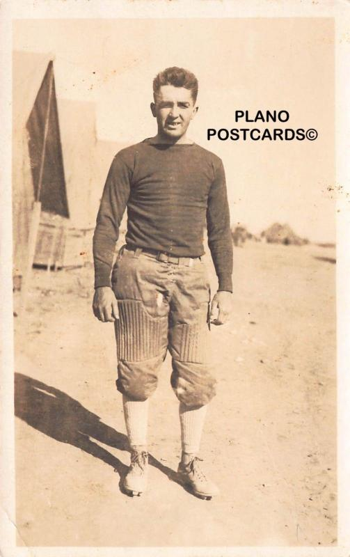 EARLY 1900'S FOOTBALL PLAYER RPPC REAL PHOTO POSTCARD