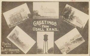 RP: UDALL , Kansas , 00-10s ; 6 view Postcard