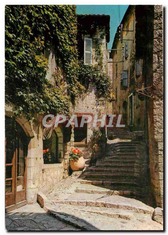 Old Postcard Saint Paul Riviera Montee to the Church
