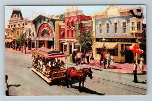 Disneyland CA-California, Upjohn Pharmacy on Main Street, Chrome c1968 Postcard