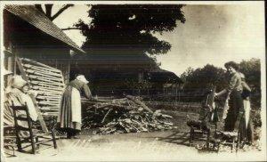Allanstand Western NC Cottage Folk Art Industry SCARCE Real Photo Postcard #2