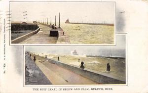 Duluth Minnesota Ship Canal Multiview Antique Postcard K64248