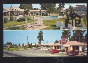SANTEE SOUTH CAROLINA MANSION RESTAURANT CARS 1963 FORD GALAXIE POSTCARD