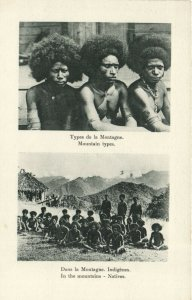 PC CPA PAPUA NEW GUINEA, MOUNTAIN TYPES, NATIVES, Vintage Postcard (b19758)