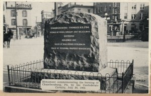 CHAMBERSBURG , PA, 1900-10s ; Monument commemorating the burning of the city