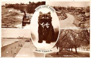 Southsea, Black Cat, Good Luck, Sally Port, Sunken Gardens, Ladies Mile, bicycle