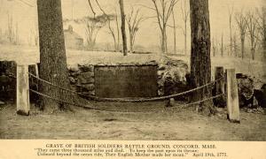 MA - Concord. Grave of British Soldiers